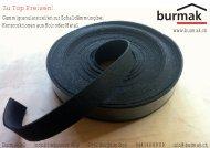 Flyer Gummigranulat-Streifen - Burmak AG