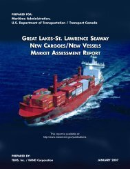 great lakes-st. lawrence seaway new cargoes/new vessels market