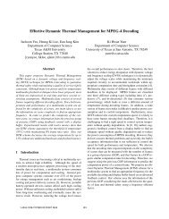 Effective Dynamic Thermal Management for MPEG-4 Decoding