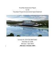 Final Risk Assessment Report for the FutureGen Project - National ...