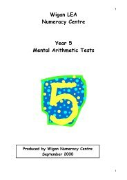 Year Five Mental Arithmetic Test 1 - Wigan Schools Online