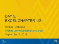 DAY 5: EXCEL CHAPTER 1/2