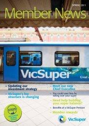 Member rewards - VicSuper Member News Autumn 2012