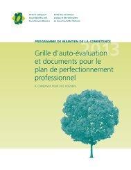 Grille d'auto-évaluation et documents pour le plan de ...