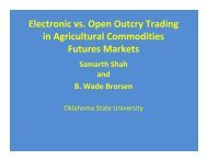 Electronic vs. Open Outcry Trading in Agricultural ... - Farm Foundation