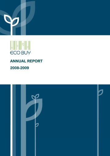 ANNUAL REPORT 2008-2009 - ECO-Buy