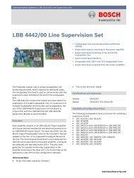 LBB 4442/00 Line Supervision Set - Bosch