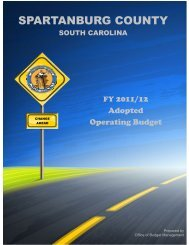 FY 2011-12 Adopted Operating Budget - Spartanburg County