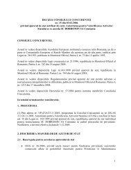 1 DECIZIA CONSILIULUI CONCURENTEI nr. 15 din 03.02.2006 ...