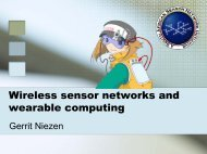 Wireless sensor networks and wearable computing