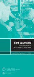 First Responder - NREMT - National Registry of Emergency Medical ...