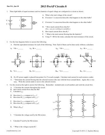 2013 PreAP Circuits 8