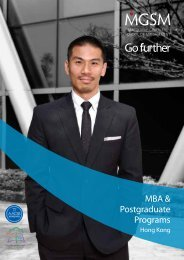 MBA MASTER OF MANAGEMENT POSTGRADUATE DIPLOMA ...