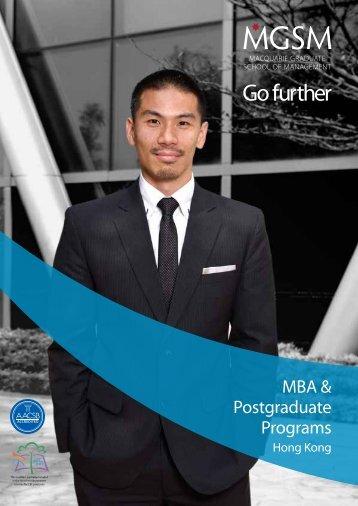 MBA MASTER OF MANAGEMENT POSTGRADUATE DIPLOMA ...