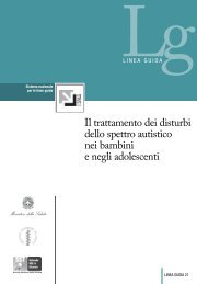 Il trattamento dei disturbi dello spettro autistico nei bambini e negli ...