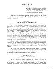 Plano cargo, carreira e vencimentos da Guarda - Prefeitura ...