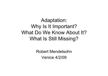 Adaptation: Why Is It Important? What Do We Know About It? What Is ...