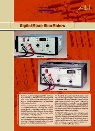 Digital Micro-Ohm Meters - Reptame