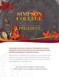 Position Profile - Simpson College