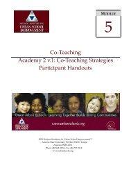 Co-Teaching Strategies Participant Handouts - NIUSI Leadscape