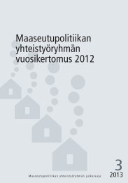 YTR-3-2013 WEB - Maaseutupolitiikka