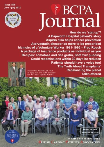 BCPA Journal - Issue 184 - British Cardiac Patients Association