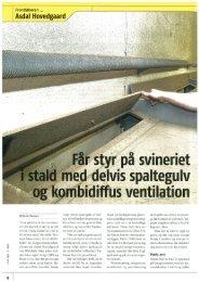 Læs artikel her som blev bragt i fagbladet Svin, juni 2011 - Skov A/S
