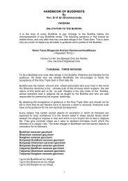 HANDBOOK OF BUDDHISTS - Ven Dr K Sri Dhammananda