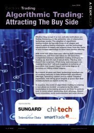Algorithmic Trading: Attracting The Buy Side - Interactive Data