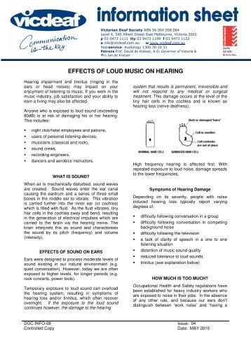 Effects Of Loud Music On Hearing – Vicdeaf, Deaf