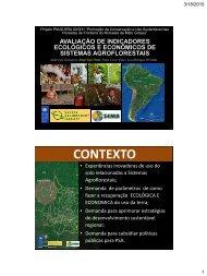 avaliação de indicadores ecológicos e econômicos de sistemas ...
