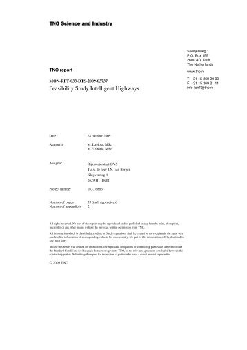 Feasibility Study Intelligent Highways Final Report - Enterprise