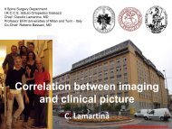 Correlation between imaging and clinical picture C. Lamartina