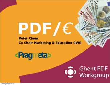PDF/€ Peter Claes Co Chair Marketing & Education GWG