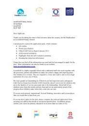 Application pack for the post of Headteacher at Leconfield Primary ...