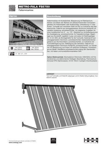 METRO-FALA FS5750 - Zweifel Storen, Guilbert Storen