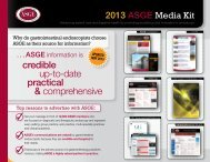 2013 ASGE Media Kit - American Society for Gastrointestinal ...