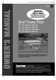 Oval Frame Pool - ABOVE GROUND POOLS, inflatables, ready to ...