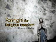 From the USCCB Letter on Religious Freedom - United States ...
