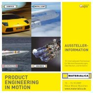 product engineering in motion Aussteller- informAtion