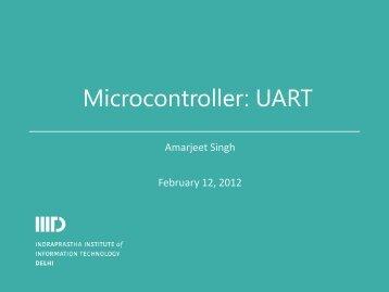 Microcontroller: UART - IIIT