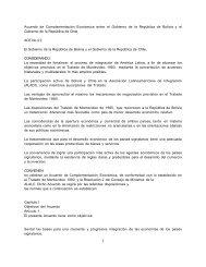 Acuerdo de Complementación Económica entre el Gobierno ... - WITS