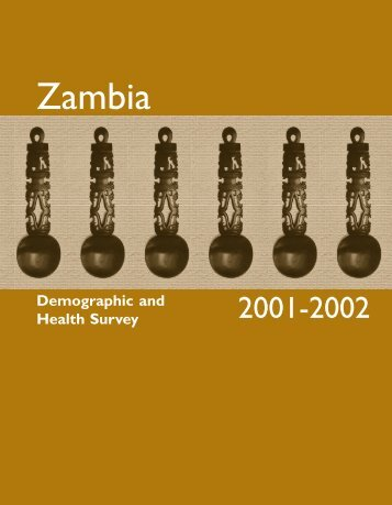 Zambia Demographic and Health Survey 2001-2002 - Measure DHS