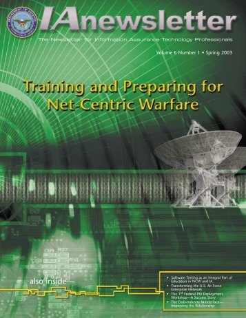 Download - Vol 6 No 1 - IAC - Defense Technical Information Center