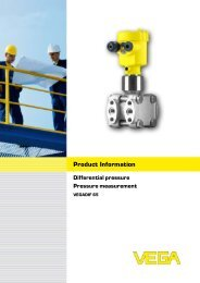 Product Information VEGADIF 65 - Insatech