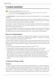 Création monétaire - Le Club Innovation Banque Finance Assurance