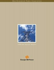 Annual Report 2003 - New Brunswick Electric Power