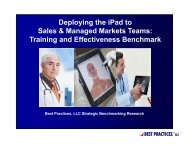 Deploying the iPad to Sales & Managed Markets Teams: Training ...