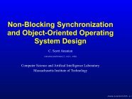 Non-Blocking Synchronization and Object ... - C. Scott Ananian