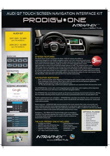 AUDI Q7 TOUCH SCREEN NAVIGATION INTERFACE KIT - Intraphex